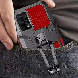 Vantime For Realme 7 Pro Belt Clip Case Kickstand Slim Phone Cover