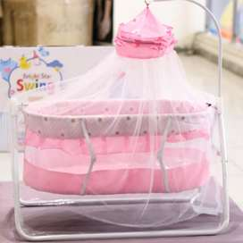 Baby Bed + Swing ( Pink Color )