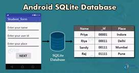 Need Android Sqlite data base connectivity developer