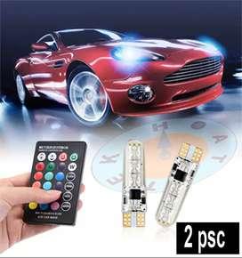 Lampu LED SMD RGB T10 Senja Remote Control (2 Pcs)