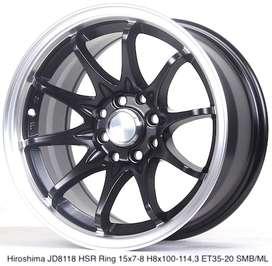 velg racing HIROSHIMA JD8118 HSR R15X7/8 H8X100-114,3 ET35/20 SMB/ML