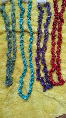 Kalung Batu asli Natural gemstone necklace satu susun murah