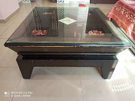 1.5 Year old wooden center table 3x3 feet at 7000