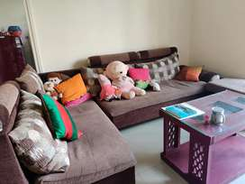 Sofa set with central table 3yrs in old