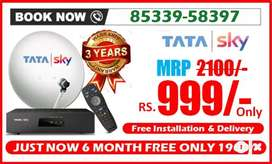 33% Off- New Connection Tata Sky DTH DishTV Tatasky Dish Videocon-COD