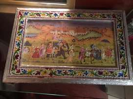 Antique jewellery box with free wooden bangle stand