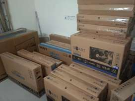Newly sealed pack Led tv & A.C at lowest price, 1yr onsite waranty bil