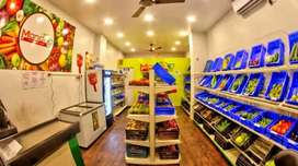 A well furnished air conditioned running shop for sale