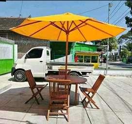 Meja makan outdoor,meja payung,meja cafe outdoor,meja taman