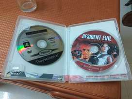 2 game disc of ps2 #call of duty and resident evil #Dvd