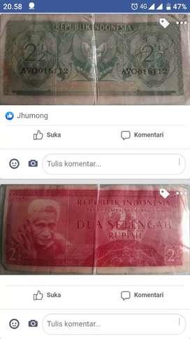 Di jual uang pecahan 2setengah rupiah