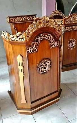 mimbar masjid model simple