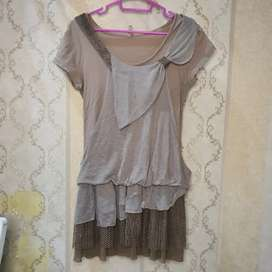 Aici.Co Cintage Mini Dress Brown | Thrift Preloved