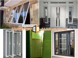 Pintu Jendela Kusen Kaca Kamar Mandi Aluminium Geser Sliding Lipat Tam