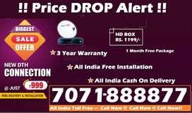 શ્રેષ્ઠ ઓફર !Rs.888 Tata Sky HD Box - Airtel DTH Tatasky D2H Dish TV