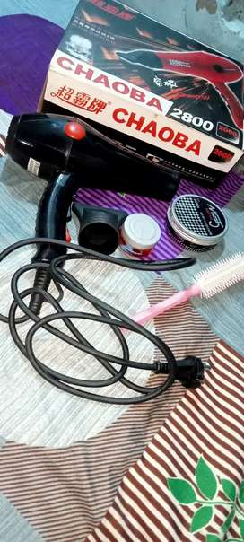 Brand Choaba Hair dryer and hair product