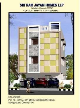 (2BHK flats for sale at Madipakkam Mahalakshmi Nagar.)