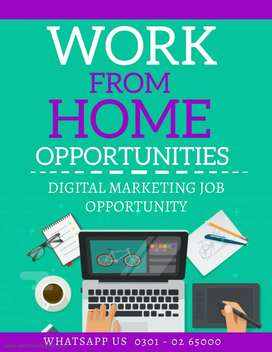 Latest  online Digital marketing job available at home