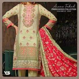 Aiman fahad 3 piece embroidered lawn suits