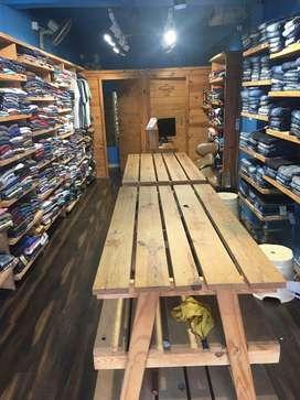 Excellent running mens wear shop for sale