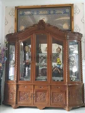 Lemari Jati 5 Pintu Model Ukir