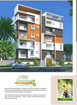 %Unfurnished 3BHK% 1650sqft Apartment/ at Mahitha's Green Dwaraka