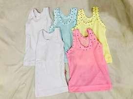Baju kutang  baby size newborn (5pcs)