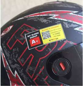 All Helmet Blood  Group  Stickers