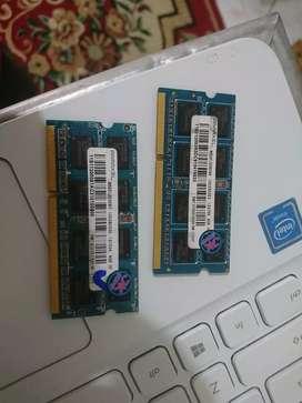 Ram laptop Oryginal 4gb pc 10600 Garansi 3 bulan