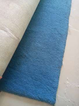 Royal blue wool carpet