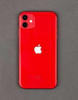 iphone 11 64GB ( Red Product ) 5 Month Warrnty Reamanig