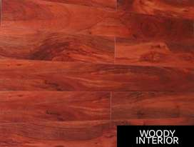 Laminated wooden floor with HDF quality.