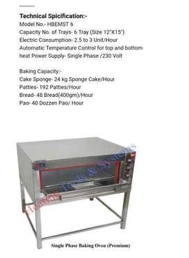 Steel door 8 tray oven