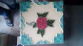 Antique embossed tiles made in japan