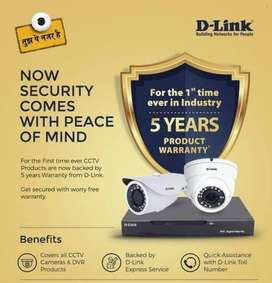 D Link Set of 4 CCTV with 5 Years Warranty Limited Offer till stock