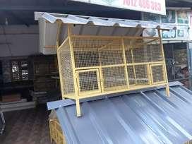 Chicken cages.
