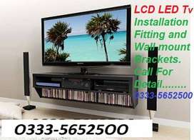 LCD LED TV home theatre bracket installations sevice provid