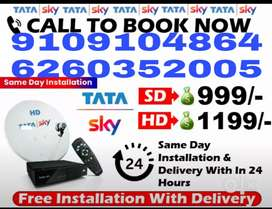 Tata sky SD/HD Box Tata sky Free Installation And Free Delivery |