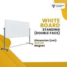 Jual Papan Tulis Di Malang Whiteboard Standing Magnet Uk 90x120 cm