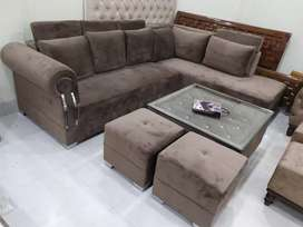 Suede velvet sofa sets available on factory price warranty 10 years