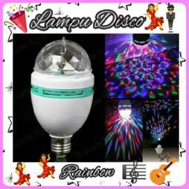 New Lampu LED Disco Rotating Full Colour