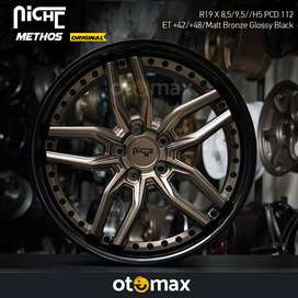Velg Mobil Niche Methos Original Ring 19 Matt Bronze Glossy Black