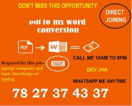 In part time work get double income with Secure career. Registered com