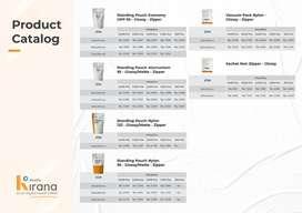Cetak / Design Standing Pouch alumunium 95 - Glossy / Mate - Zipper