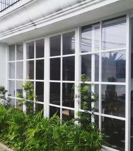 Pintu kaca jendela kaca partisi alumunium kaca