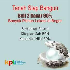 Tanah Kapling Luas 100-an m2 Dekat Stasiun Bogor Ada Diskon 25%