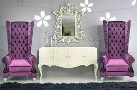 Sofa tamu singgle teras cantik satu set