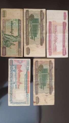 Uang kyats lama