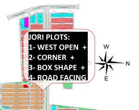 West Open + Corner + Box Shape & Road side Plot - North Town Phase 2