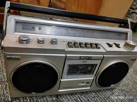 Sony Japan boombox tape recorder radio